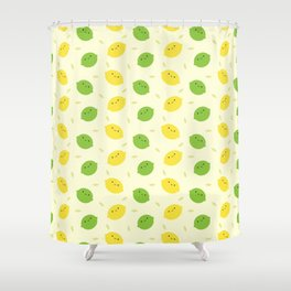 Kawaii Lemons & Limes Shower Curtain
