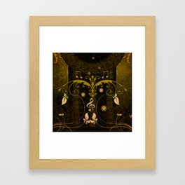 Music, clef and key notes Framed Art Print