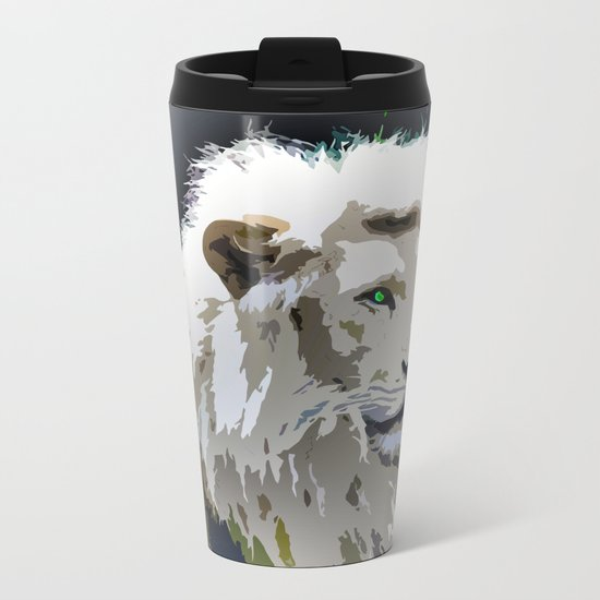 White Lion Metal Travel Mug