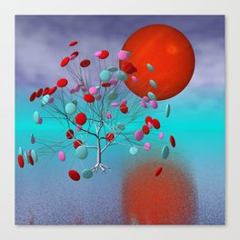 fancy tree and full moon -2- Canvas Print