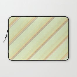 Spring Green Inclined Stripes Laptop Sleeve