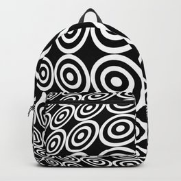 Tribute to Vasarely 7 -visual illusion- black circle Backpack