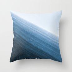 Snow Layers Throw Pillow