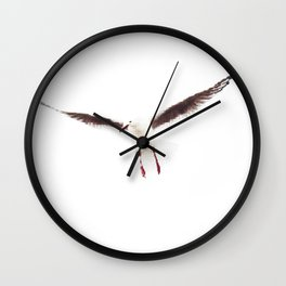 White Seagull Halftone Design Wall Clock
