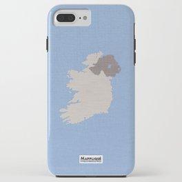 Ireland Linen Fabric Map Art iPhone Case