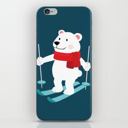 Lets Go Skiing with Mr Polar Bear this Merry Christmas iPhone Skin