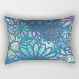 Metallic Daisies Rectangular Pillow