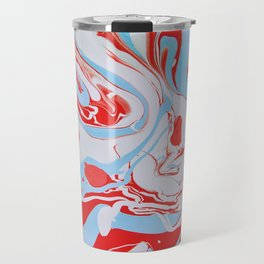 Swirl of red and blue Travel Mug
