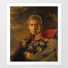 Sir Ian McKellen - replaceface Art Print
