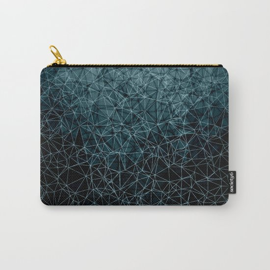 Polygonal blue and black Carry-All Pouch