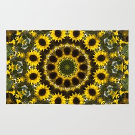 Abstract sunflower Rug