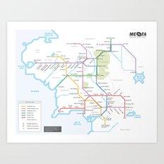 Middle Earth Transit Map Art Print