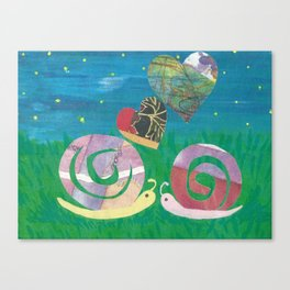 Snailing In The Right Direction Canvas Print