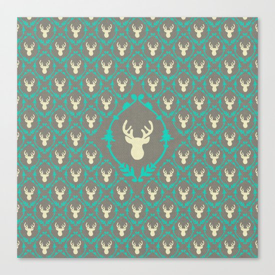 Oh Deer (white) Canvas Print