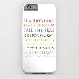 Be A Superhero, rainbow multi-color palette iPhone Case