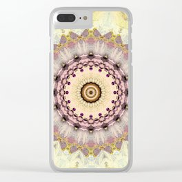Summer Yellow and dusk Mandala Clear iPhone Case