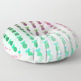Heart Drop Battle Rockets Rainbow Gradient Floor Pillow
