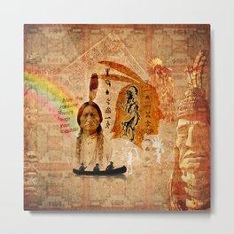 Native Indian Impressions Metal Print