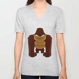 geometric gorilla Unisex V-Neck
