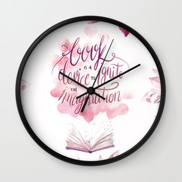 A BOOK IS A DEVICE Wall Clock