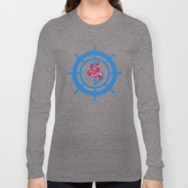 Anchor and steering wheel Long Sleeve T-shirt