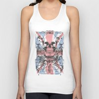 uk Tank Tops featuring UK skull by Tshirt-Factory