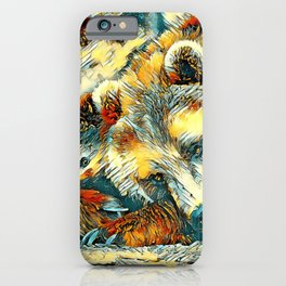 AnimalArt_Bear_20170602_by_JAMColorsSpecial iPhone Case