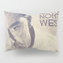 North by Northwest, Alfred Hitchcock, vintage movie poster, Cary Grant, minimalist Pillow Sham