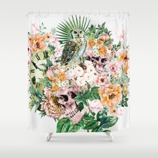Interpretation of a dream - Owl with Skulls Shower Curtain