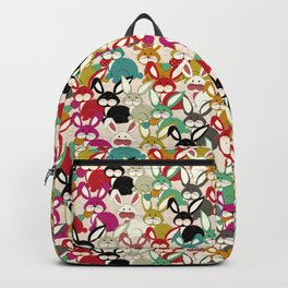 Colored  Easter bunny seamless pattern Backpack