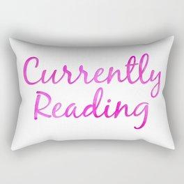CURRENTLY READING pink Rectangular Pillow