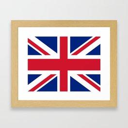 flag of uk- London,united kingdom,england,english,british,great britain,Glasgow,scotland,wales Framed Art Print