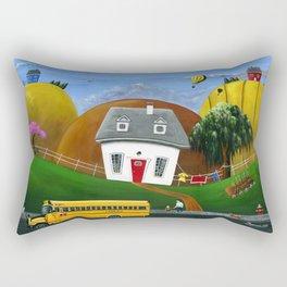 Hilly Homework Rectangular Pillow