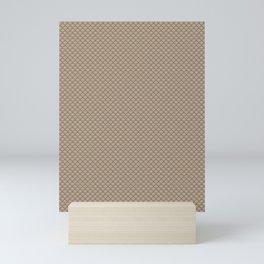 Pantone Hazelnut Small Scallop, Wave Pattern Mini Art Print