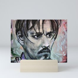 Johnny Depp Portrait Study Mini Art Print