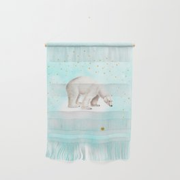 Wish upon a star polar bear Wall Hanging