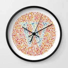 """W"" Eye Test Letter Circle Wall Clock"