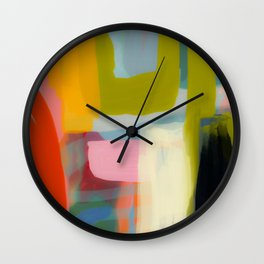 Color study 1 abstract art Wall Clock