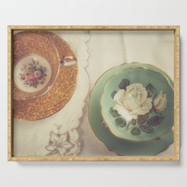Two Teacups Serving Tray