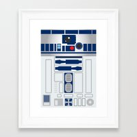 r2d2 Framed Art Prints featuring R2D2 by ANDY