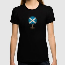 Vintage Tree of Life with Flag of Scotland T-shirt