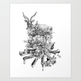The Spirits' Playground Art Print