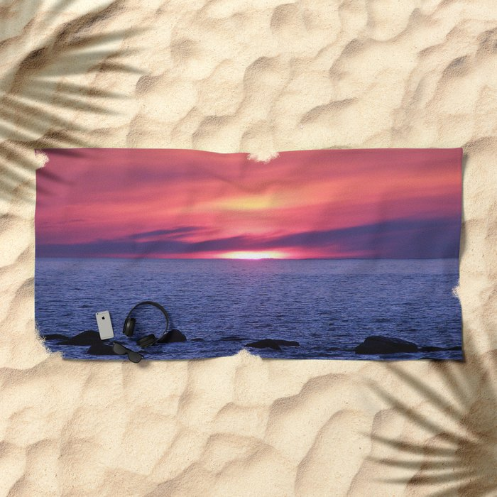Painted By Nature Beach Towel