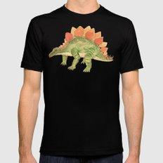 Stegosaurus Black MEDIUM Mens Fitted Tee