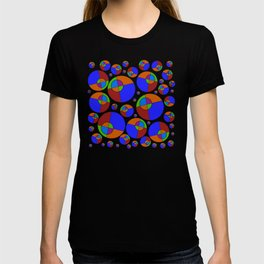 Bubble red & blue 09 T-shirt