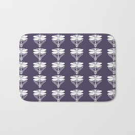 Meteorite Purple Arts and Crafts Dragonflies Bath Mat