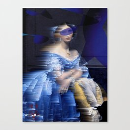 bluedress Canvas Print