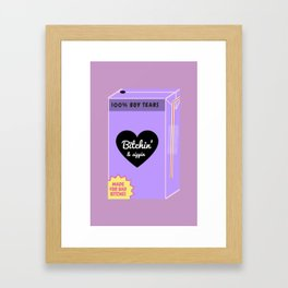 Bitchin' and Sippin Framed Art Print