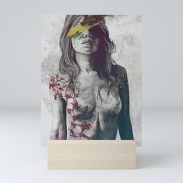 To The Marrow: Autumn (nude faceless girl in topless with lilies) Mini Art Print
