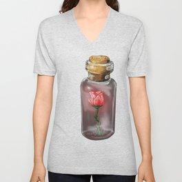 An enchanted rose Unisex V-Neck